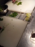 Coriander, spring onions